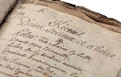 RECUEIL POÉTIQUE. MANUSCRIT, XVIe-XVIIIe siècles; 405 feuillets in-fol. ou in-4...