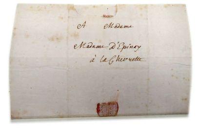 ROUSSEAU Jean-Jacques (1712-1778) CORRESPONDANCE de 61 lettres autographes, 1754-1758,...