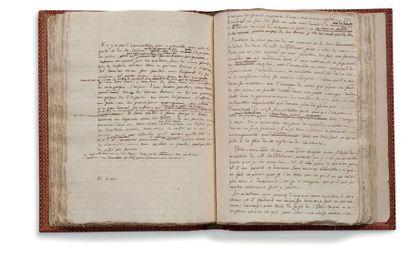 ROUSSEAU Jean-Jacques (1712-1778) MANUSCRIT autographe, Lettres de deux amans, habitans...