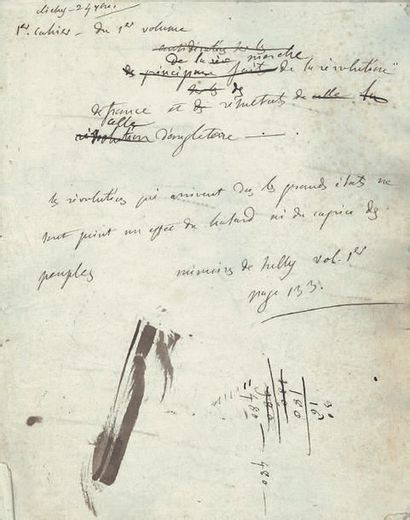 STAËL GERMAINE NECKER, BARONNE DE (1766-1817) MANUSCRIT autographe, [Considérations...