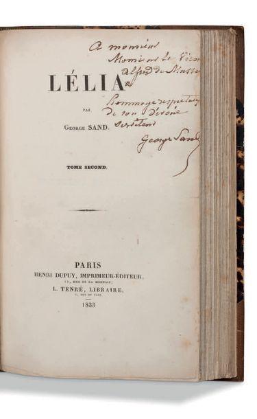 George SAND (1804-1876) Lélia. Paris, Henri Dupuy, imprimeur-éditeur, L. Tenré, libraire....