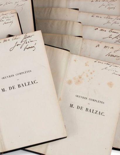 Honoré de balzac (1799-1850) Oeuvres complètes. La Comédie humaine... À Paris, Furne...