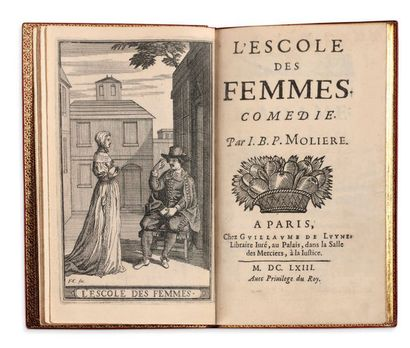 JEAN-BAPTISTE POQUELIN, DIT MOLIERE (1622-1673) L'école des femmes Comédie. A Paris,...