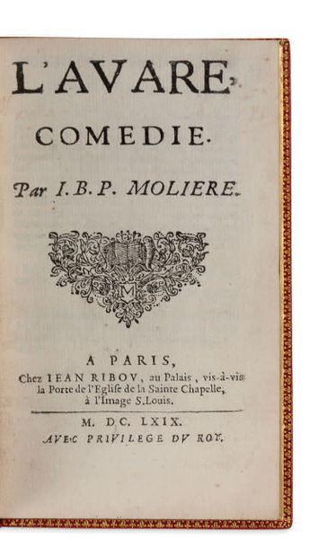JEAN-BAPTISTE POQUELIN, DIT MOLIERE (1622-1673) L'Avare Comédie. P. chez Jean Ribou...