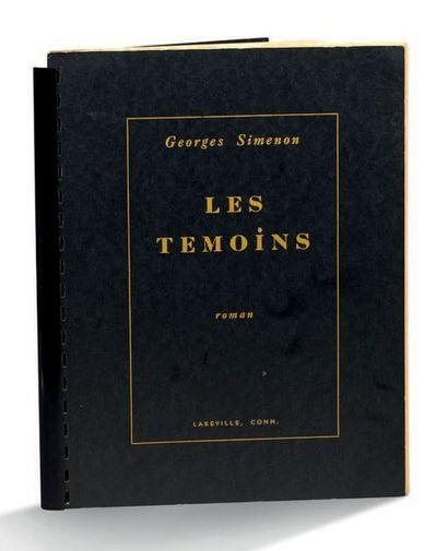 Georges SIMENON (1903-1989) Les témoins roman. Lakeville, Conn. (U. S. A.), [chez...