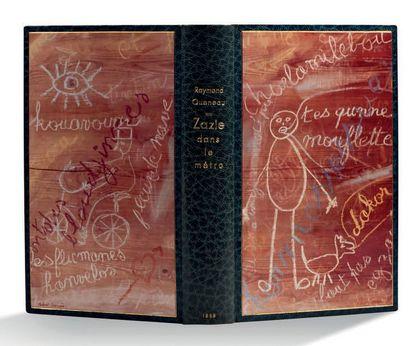 Raymond Queneau Zazie dans le métro Paris, Gallimard, 1959. In-8 (184x105 ); maroquin...