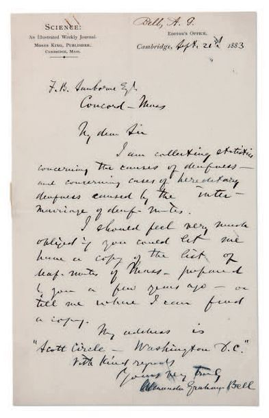 BELL ALEXANDER GRAHAM (1847-1922) INVENTEUR ET PHYSICIEN AMÉRICAIN.