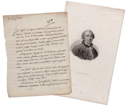 BUFFON GEORGES-LOUIS LECLERC, COMTE DE (1707-1788) NATURALISTE.