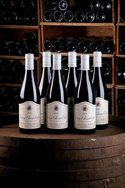 6 Blles Gevrey-Chambertin - 2009 - Domaine Thierry Mortet - état/ condition: Etiquettes...