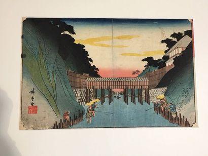 JAPON<br/>XIXE SIÈCLE HIROSHIGE (1797-1858)