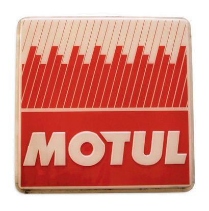 MOTUL Thermomètre en tôle peinte Etat d'usage Dim: 97 X 30 cm On joint une demi enseigne...