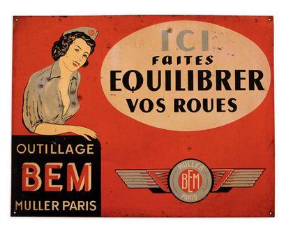 WESTINGHOUSE Plaque en tôle émaillée Email Caborde Etat D'usage Dim: 80 X 80 cm environ...