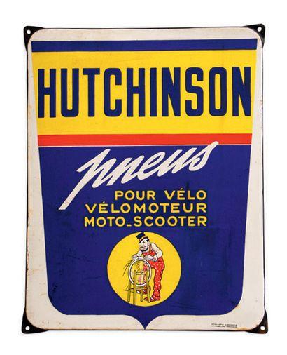 Hutchinson Plaque en tôle émaillée Emaillerie Alsacienne Strasbourg - Hoenheim Bon...
