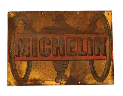 MICHELIN Lot de 2 tôles peintes Louis Cannard/Chagnon Etat d'usage Dim: 80 X 80 et...