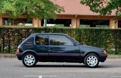 1987<br/>PEUGEOT 205 GTI 1.9<br/>MOINS DE 6 800 KM D'ORIGINE