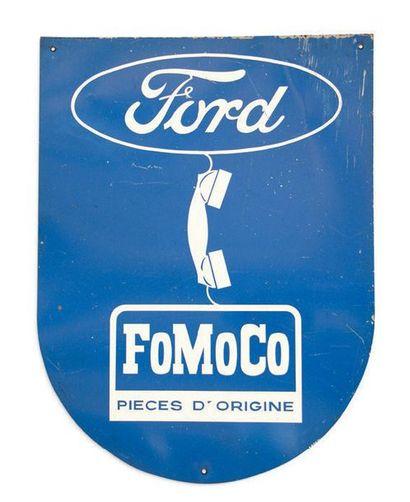 Ford Lot de 2 tôles peintes double face Etat moyen Dim: 57 X 120 et 79 X 60 cm e...