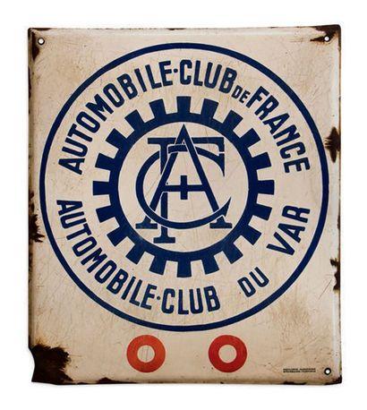 ACF Automobile club du Var Plaque en tôle émaillée Emaillerie Alsacienne Etat d'usage,...