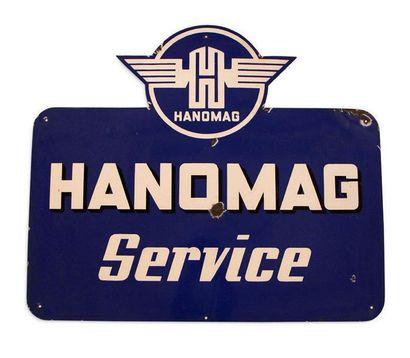 HANOMAG Plaque en tôle émaillée Pyro-Email Boos & Hahn, Ortenberg-Baden Bon état,...