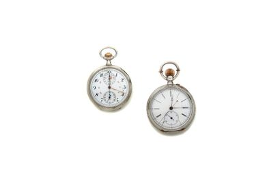 LOT de 2 chronographes de poche OMEGA Boitier...