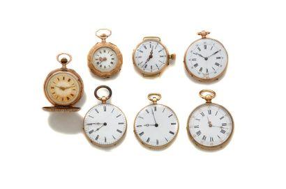 LOT de 7 montres de col Poids brut 171 g...