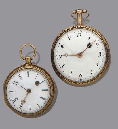 LOT de 2 montres à coq en or ANONYME Poids...