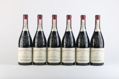 6 B CHATEAUNEUF DU PAPE Rouge - 1996 - Château...