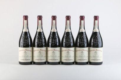 6 B CHATEAUNEUF DU PAPE Rouge - 2000 - Château...