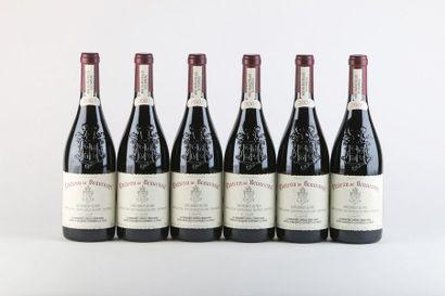 6 B CHATEAUNEUF DU PAPE Rouge - 2001 - Château de Beaucastel
