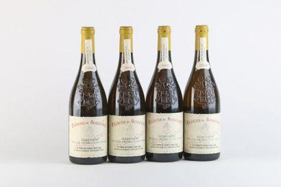 4 B CHATEAUNEUF DU PAPE VIEILLES VIGNES Blanc (e.l.s.) - 1998 - Château de Beau...