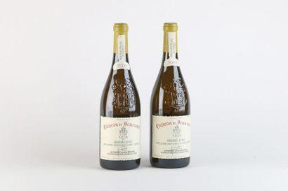 2 B CHATEAUNEUF DU PAPE Blanc - 2009 - Château...