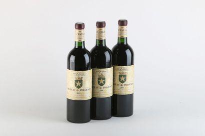 3 B BANDOL Rouge - 2001 - Château de Pib...