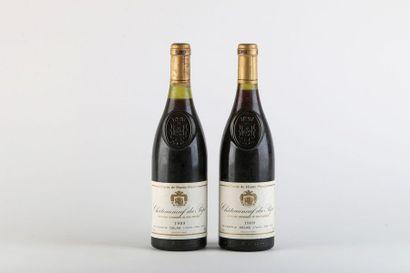 2 B CHATEAUNEUF DU PAPE CUVÉE DE HAUTE PIERRE...