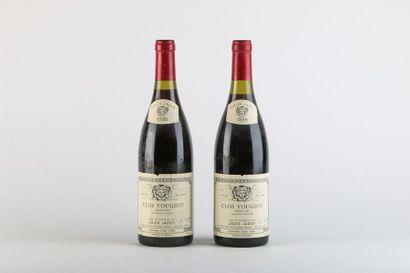2 B CLOS-VOUGEOT (Grand Cru) e.l.a. - 1989...