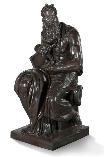 D'APRÈS MICHEL-ANGE Importante sculpture...