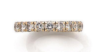 Alliance Diamants ronds, or jaune 18K (750)...