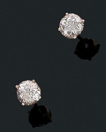 Paire de motifs d'oreilles «diamant» Diamant...