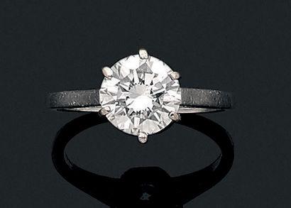 Bague «solitaire» Diamant de taille brillant,...