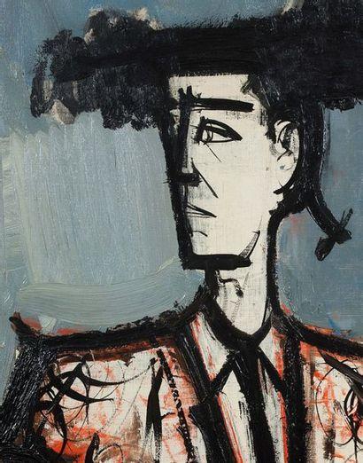Bernard BUFFET (1928-1999) Toreador , 1958 Huile sur toile, signée et datée en haut...