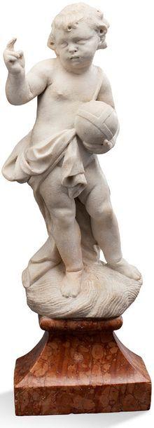 SCULPTURE en marbre représentant le Christ...