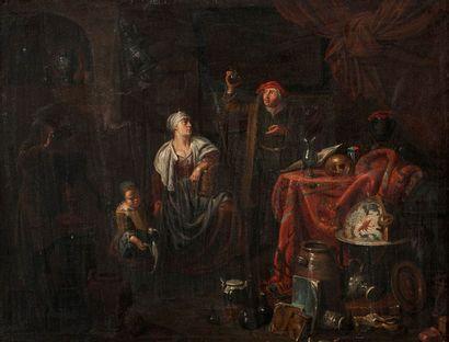 ECOLE HOLLANDAISE DU XVIIe SIÈCLE, ENTOURAGE DE JACOB DUCK