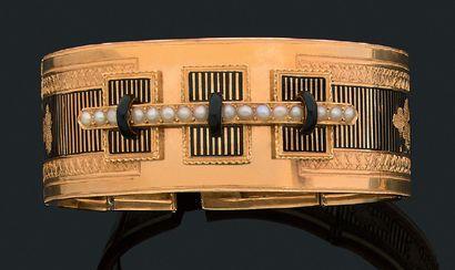 Bracelet Jonc articulé, or jaune 18k (750)...