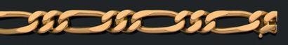 VAN CLEEF & ARPELS Ensemble «gourmette», Bracelet et sautoir, or 18k (750). Signés...