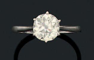 Bague «solitaire» Diamant de taille ancienne,...