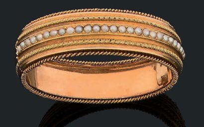 Parure Napoléon III Bracelet, pendentif et...