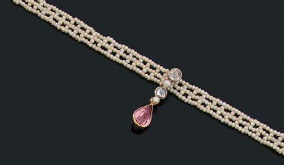 Collier «ras de cou» Semences de perles,...