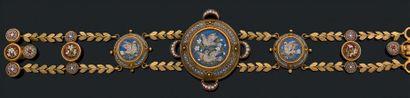 Bracelet «micromosaique» Or 18k (750) et...