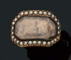 Bague Miniature, demi perles, or jaune 18k...