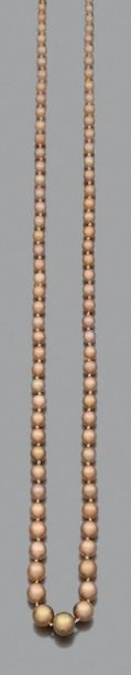 Perles fines Collier de 101 perles dorées...