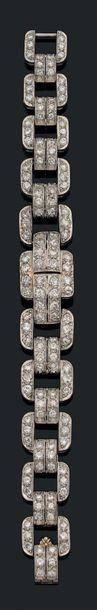 Bracelet Diamants de taille ancienne et brillant,...