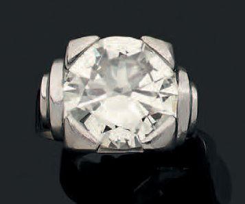 Bague «diamant' Chevalière style Art Déco,...